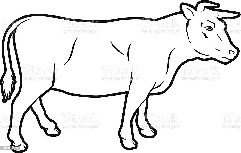 Beef cow illustration royalty-free stock vector art