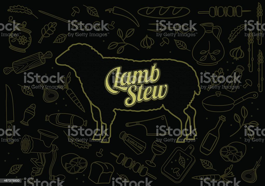 Beef Pork Lamb Chicken vector art illustration