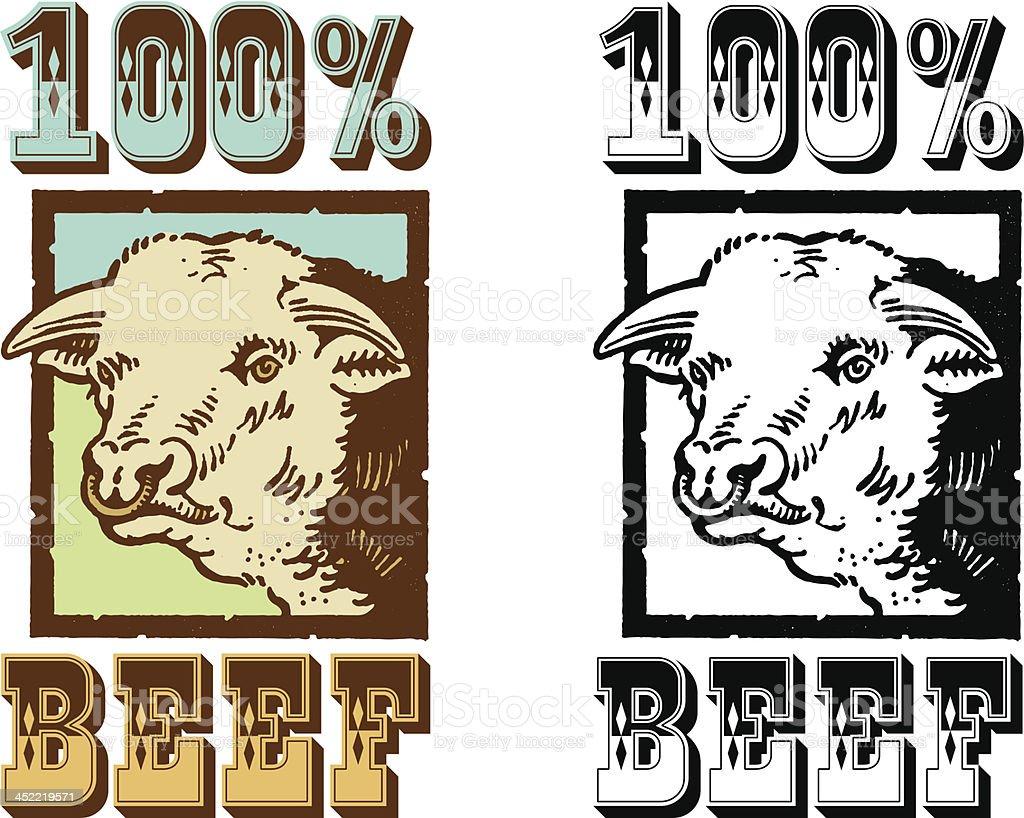 Beefy vector art illustration