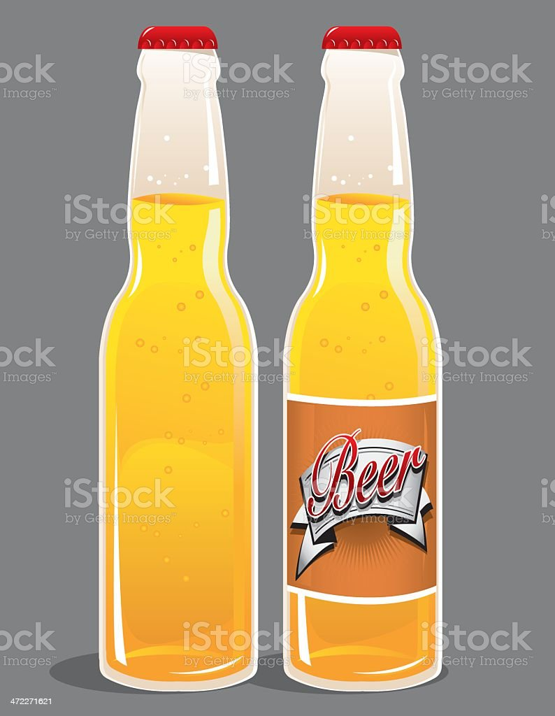 Beer and Label royalty-free stock vector art
