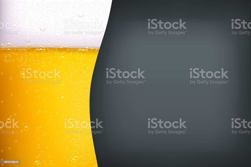 beer background with darkness vector art illustration