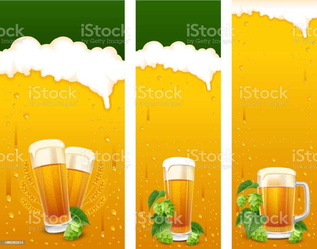 Beer banners vector art illustration