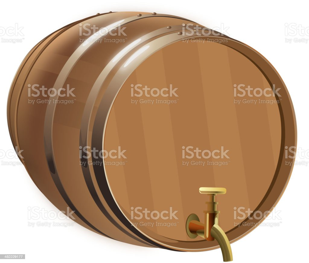Beer Barrel with Isolated Background royalty-free stock vector art