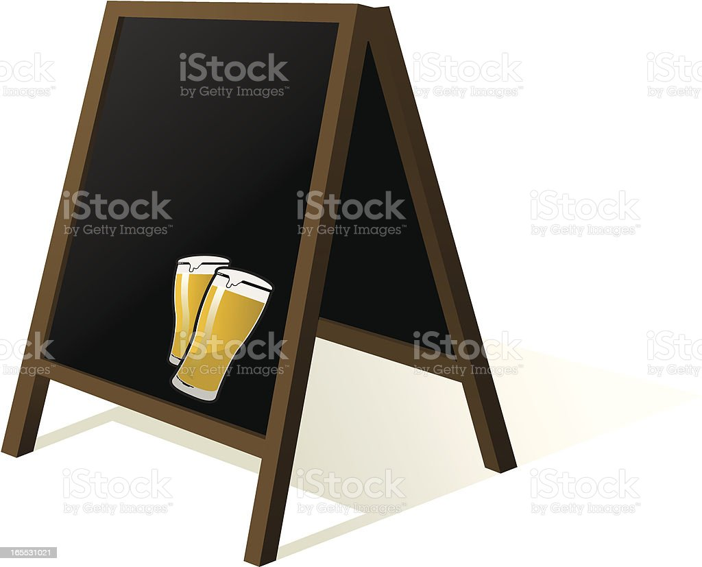 beer blackboard vector art illustration