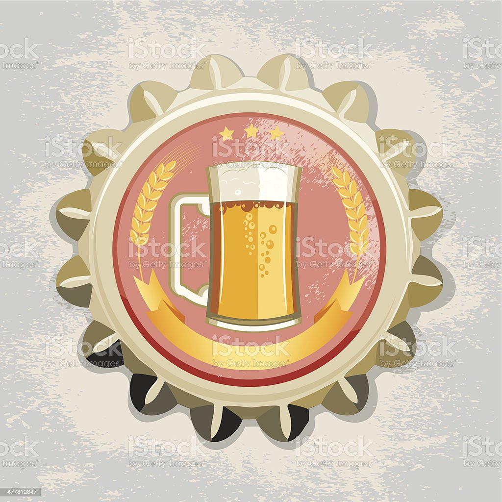 Beer bottle cap royalty-free stock vector art