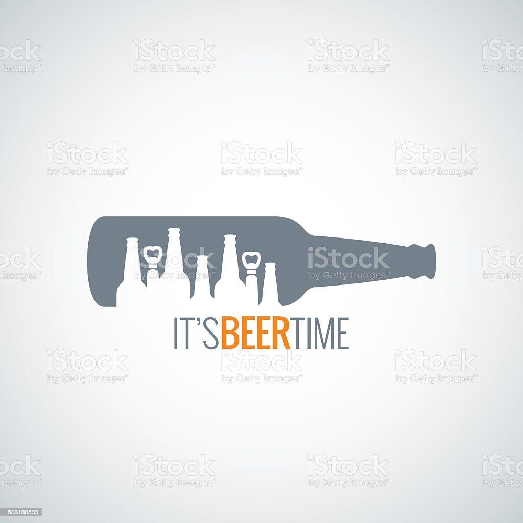 beer bottle city concept design background vector art illustration