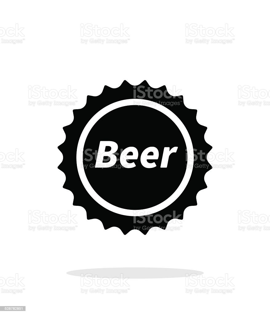 Beer bottle cup simple icon on white background. vector art illustration