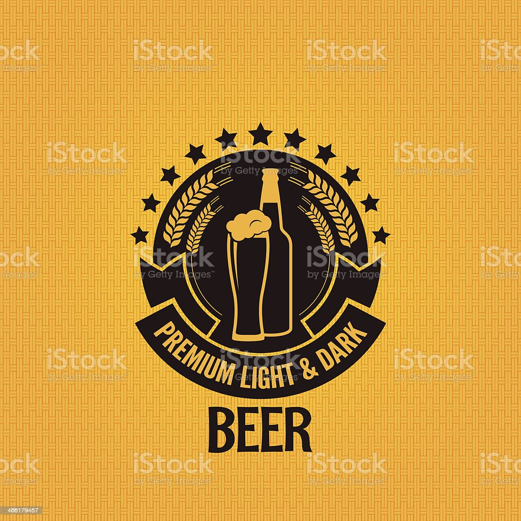 beer bottle glass vintage background royalty-free stock vector art