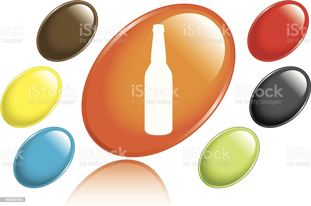 Beer Bottle Icon royalty-free stock vector art