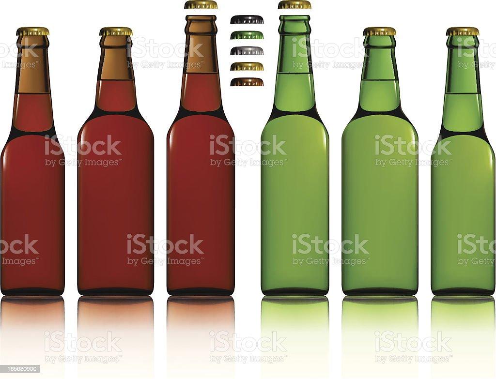 Beer Bottles royalty-free stock vector art