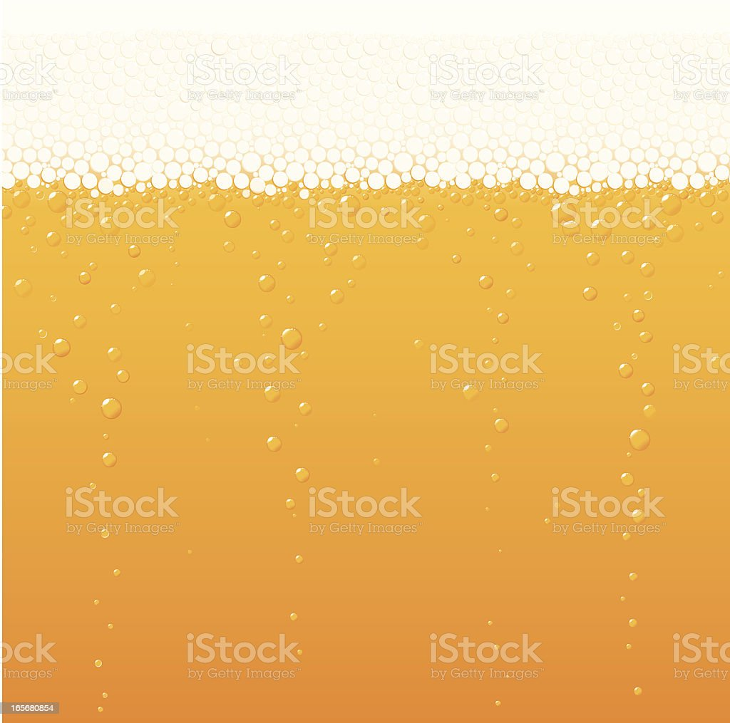 Beer bubbles vector art illustration