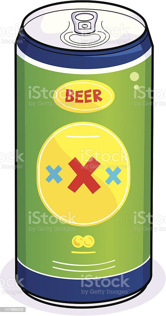 Beer can vector art illustration