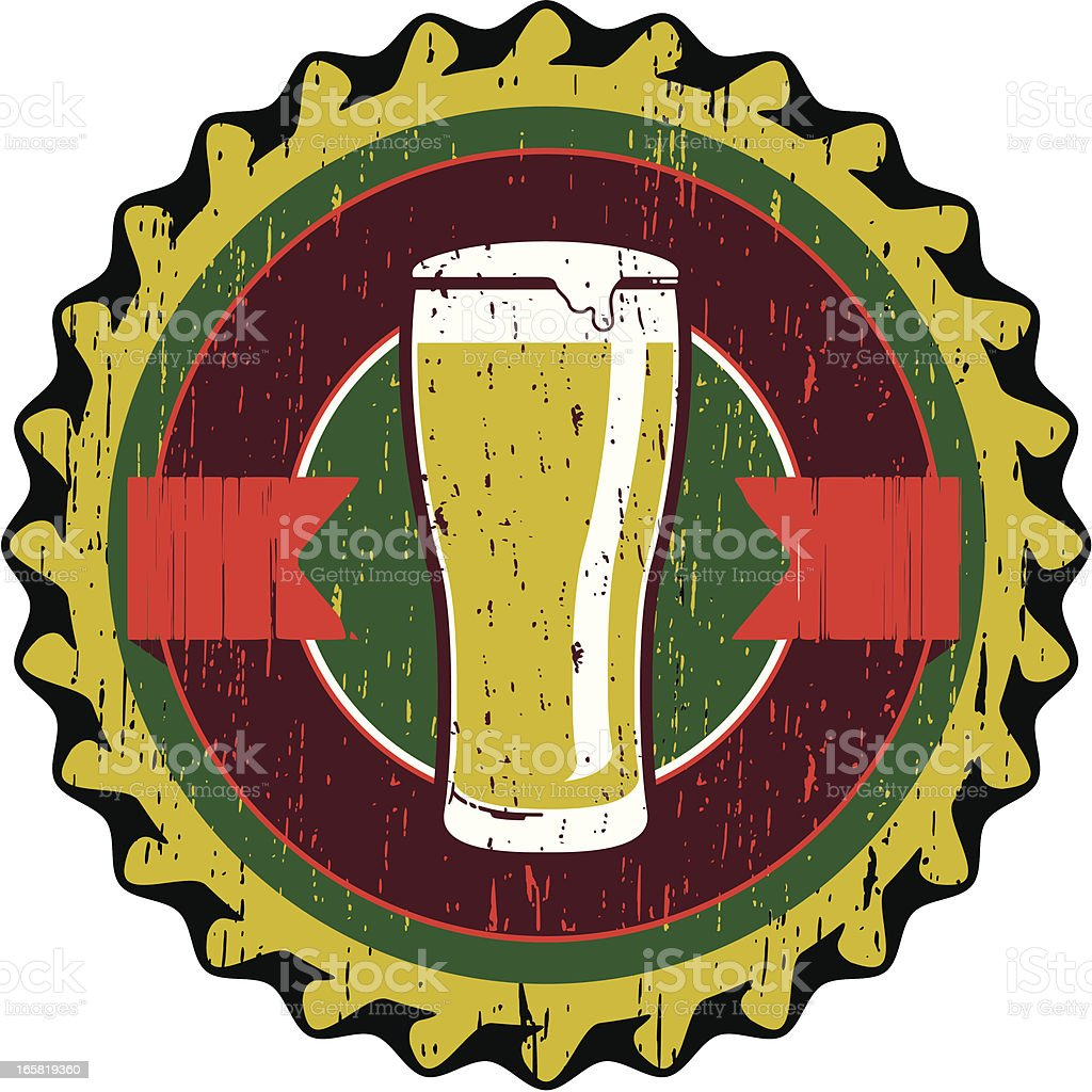 beer cap royalty-free stock vector art