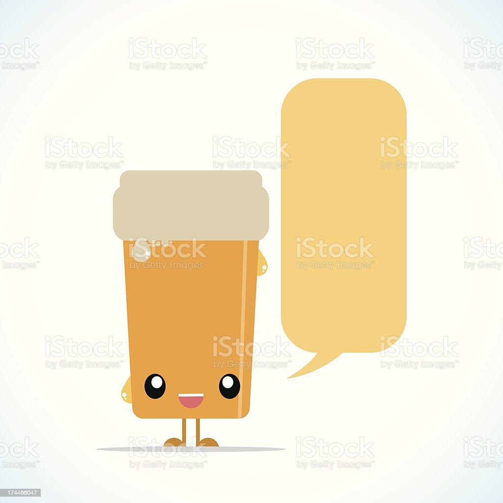 Beer character vector art illustration