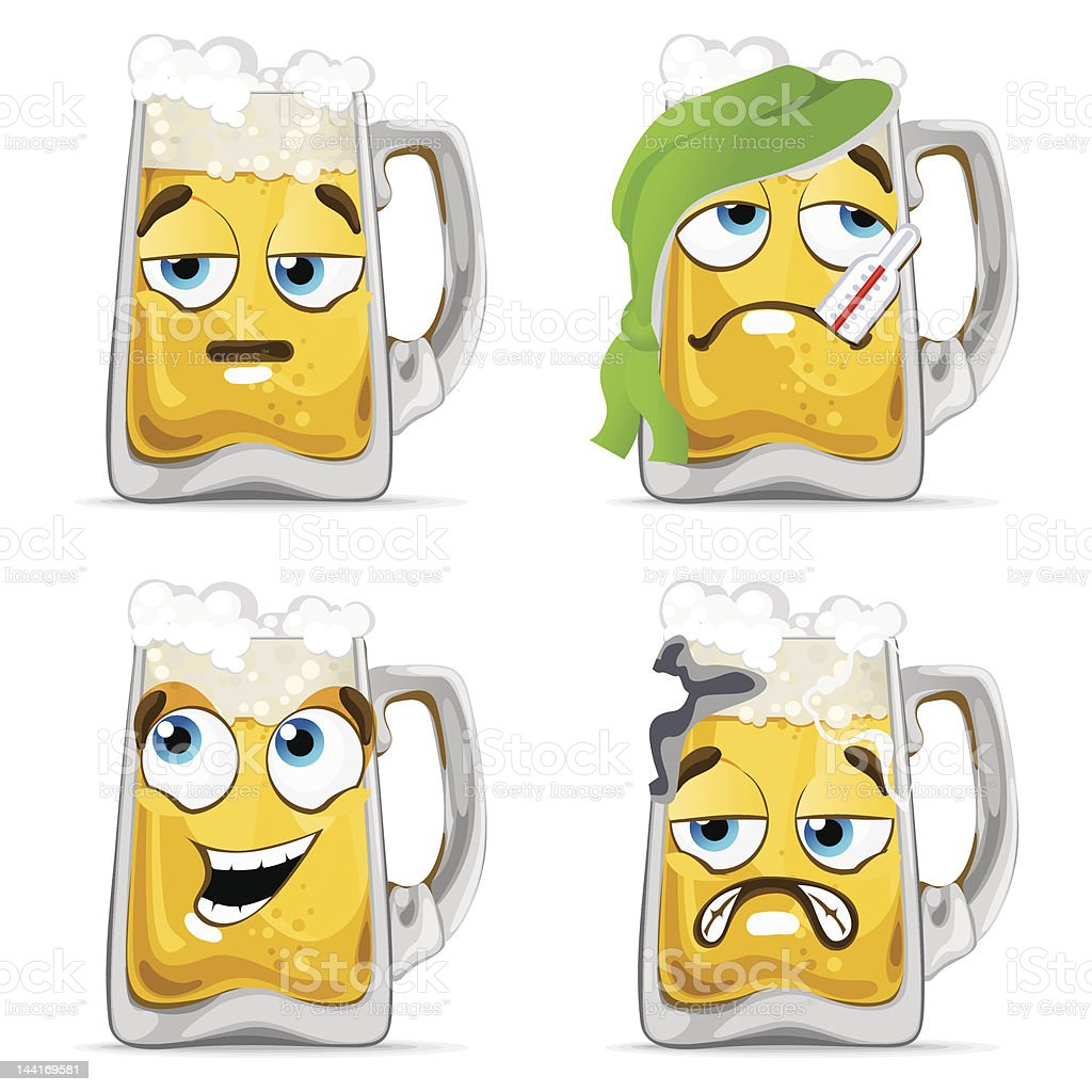 Beer Characters royalty-free stock photo