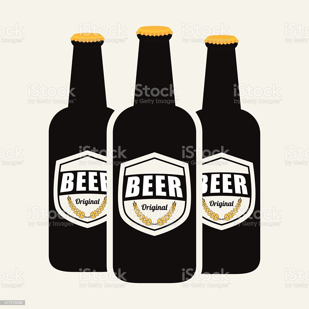 Beer design. vector art illustration