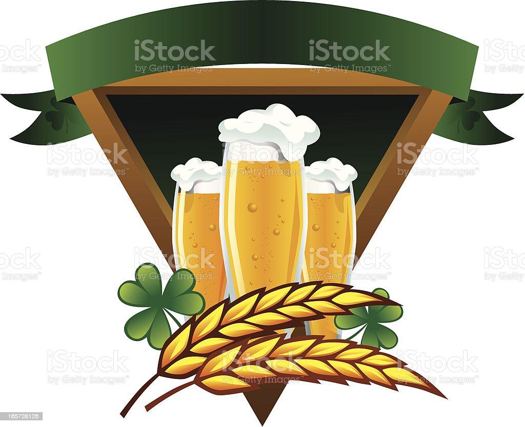 beer emblem royalty-free stock vector art