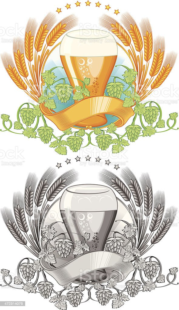 Beer emblem royalty-free stock vector art