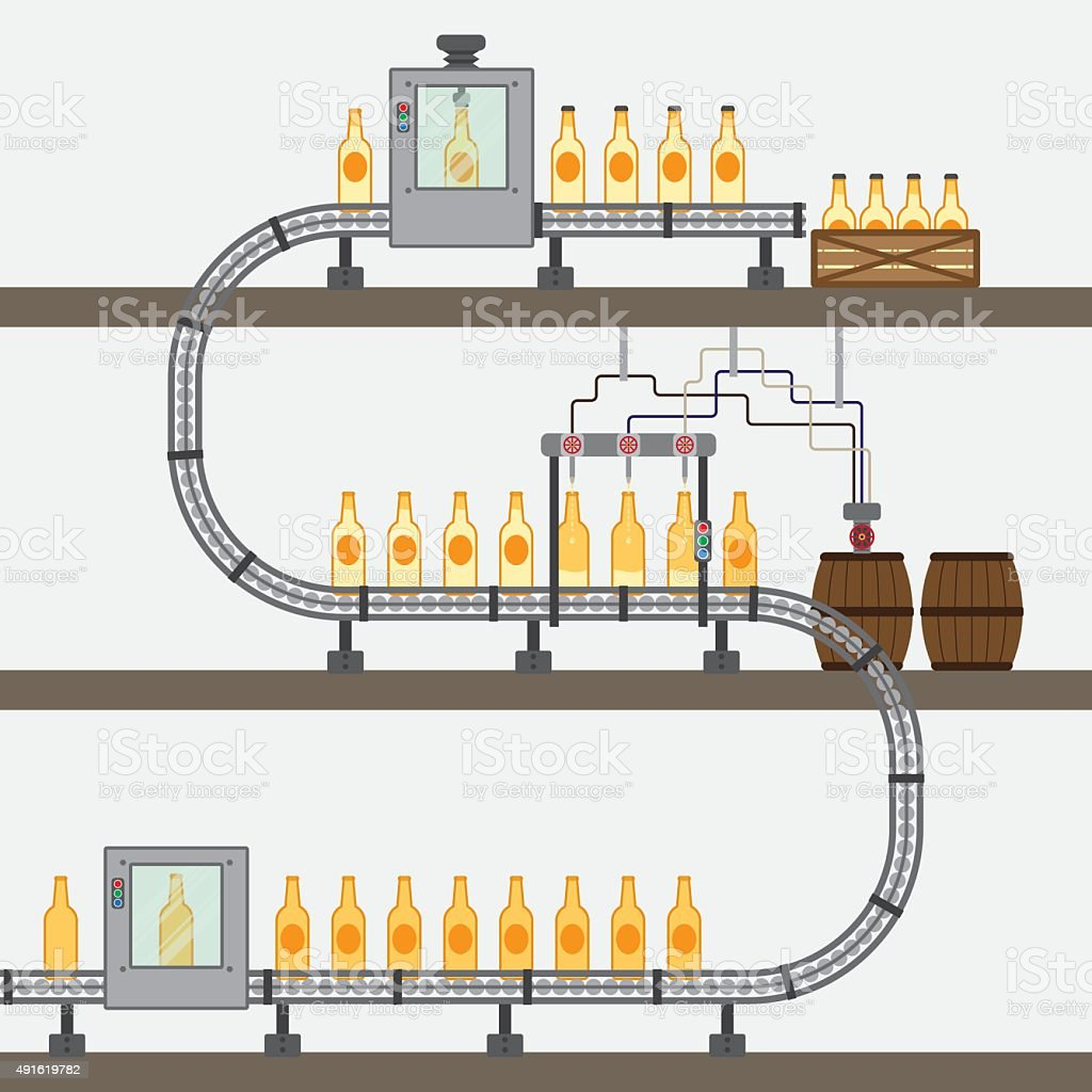 beer factory vector art illustration