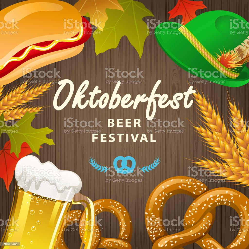 Beer Festival Oktoberfest vector art illustration