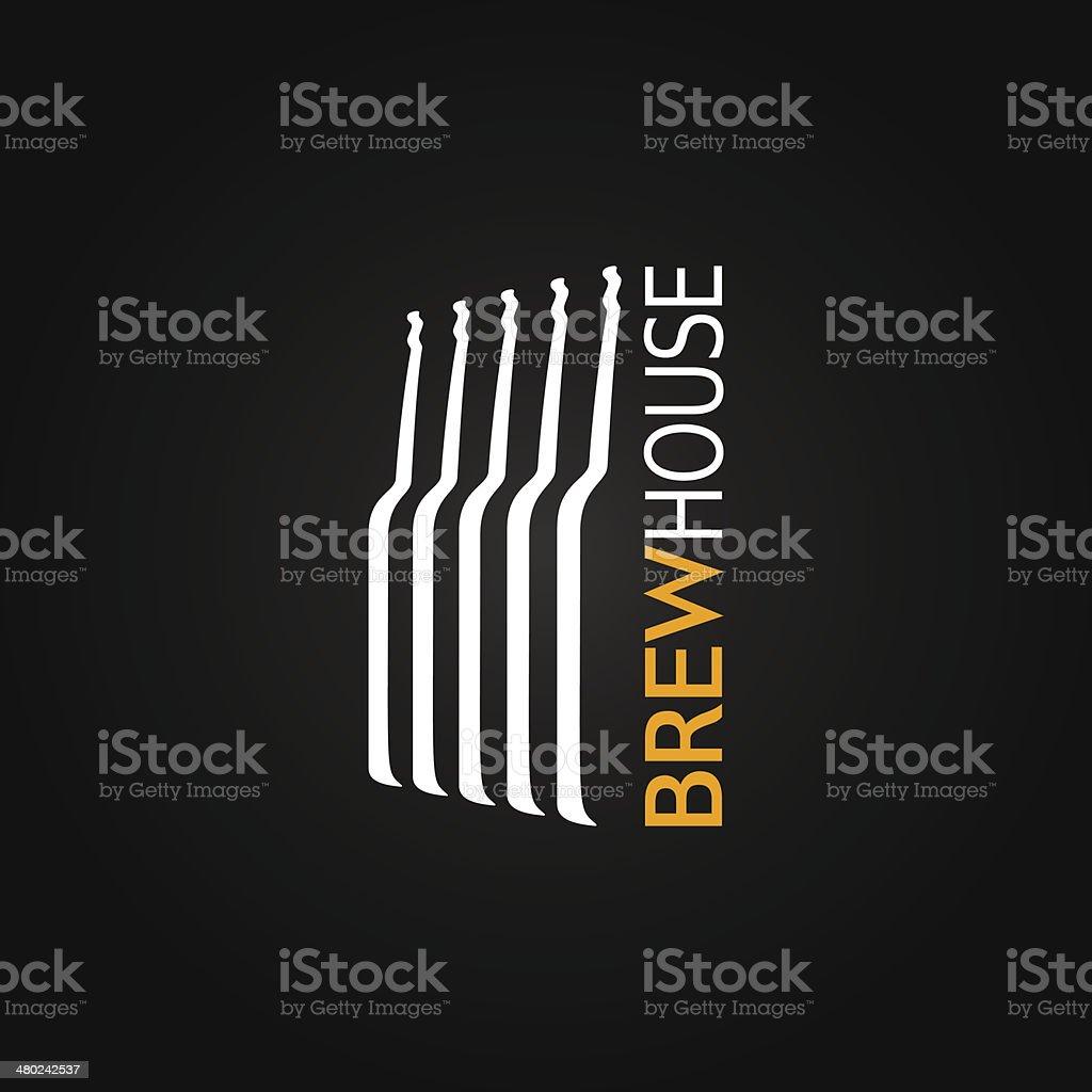 beer glass bottle design background royalty-free stock vector art