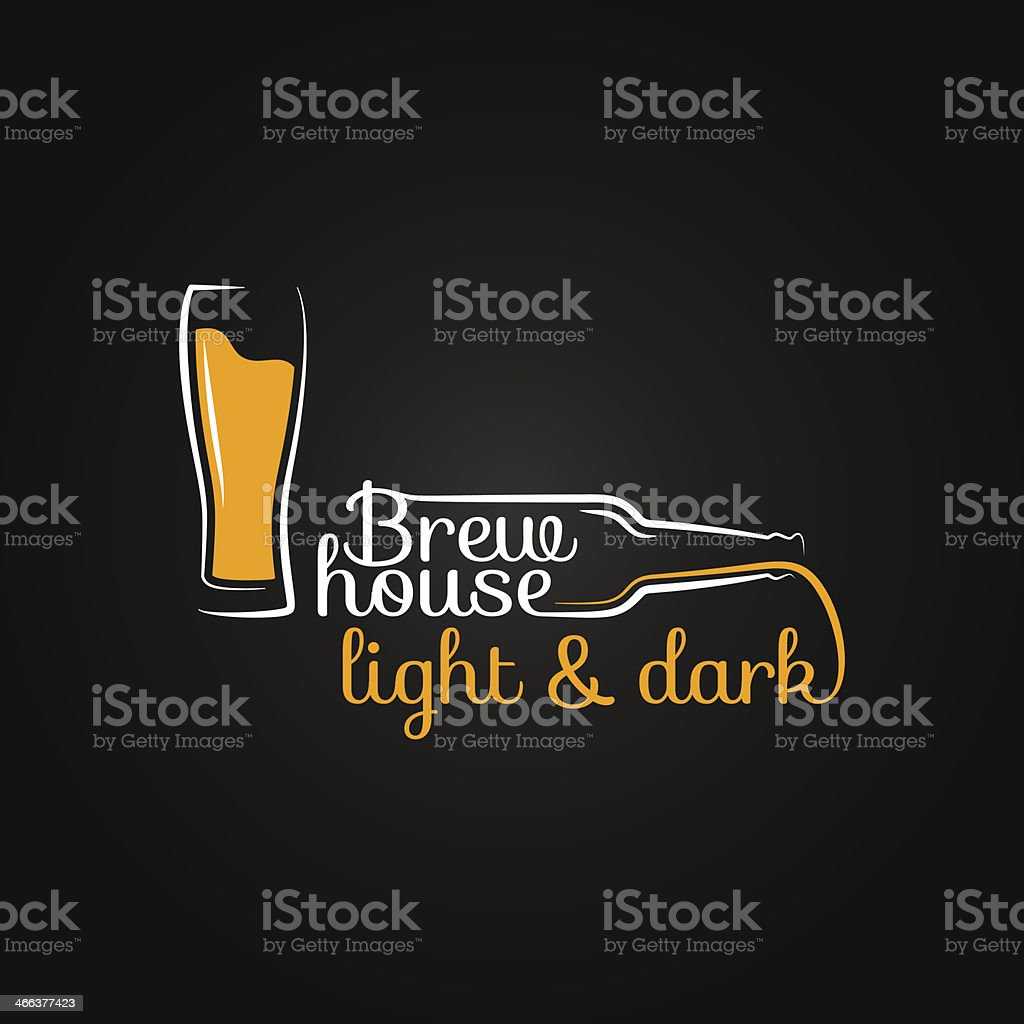 beer glass bottle house design background royalty-free stock vector art