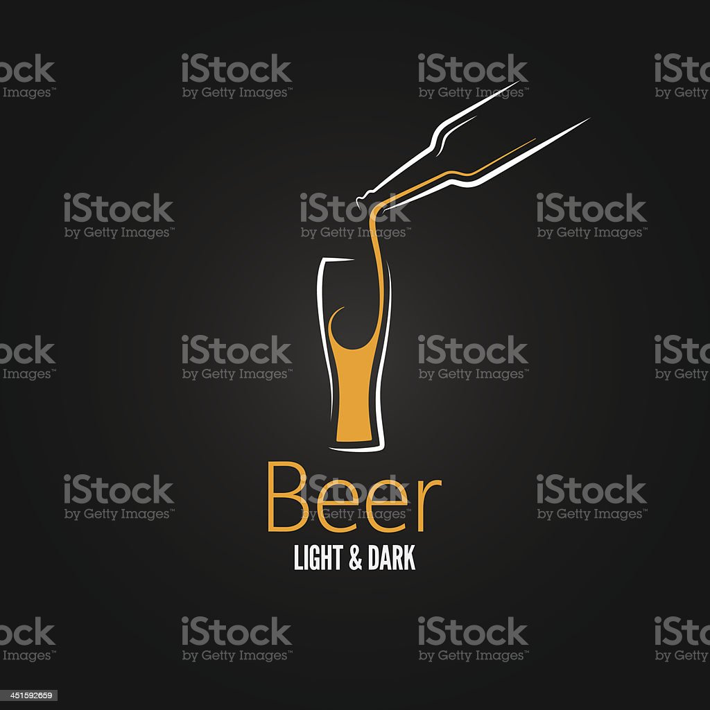 beer glass design menu background vector art illustration