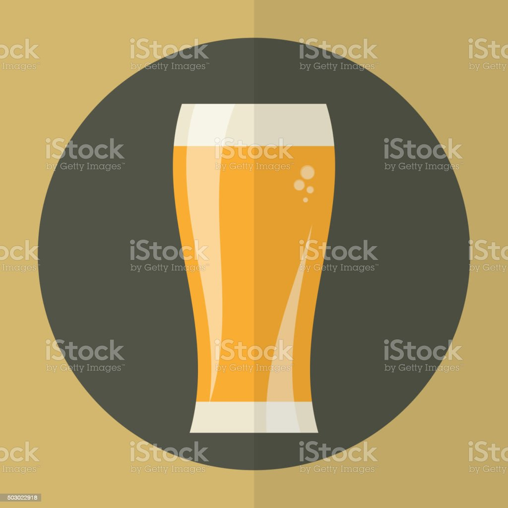 Beer glass icon. vector art illustration
