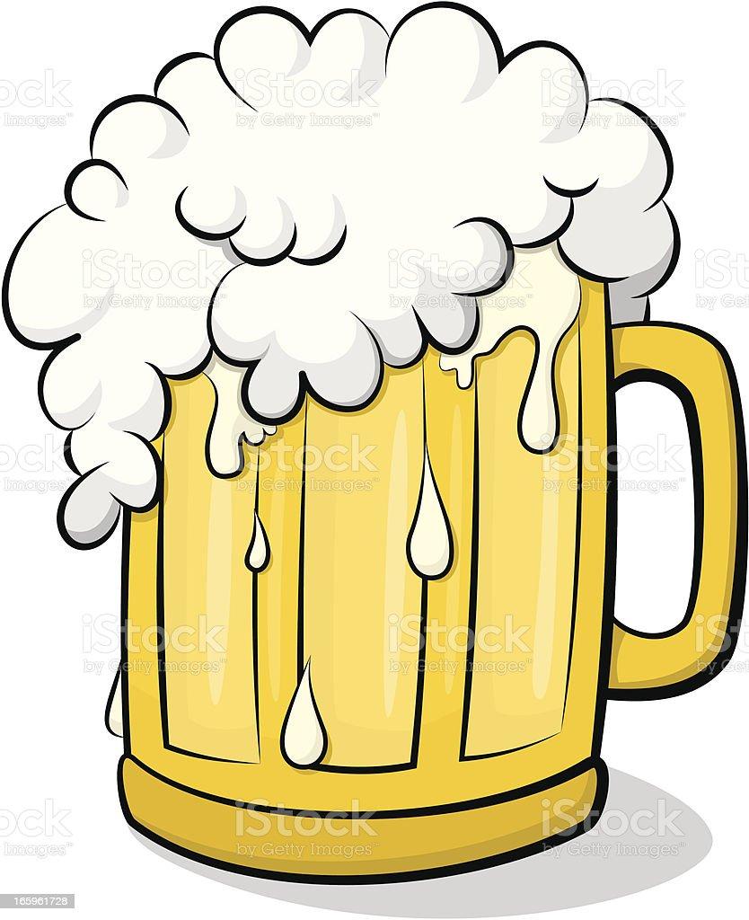 Beer Glass vector art illustration