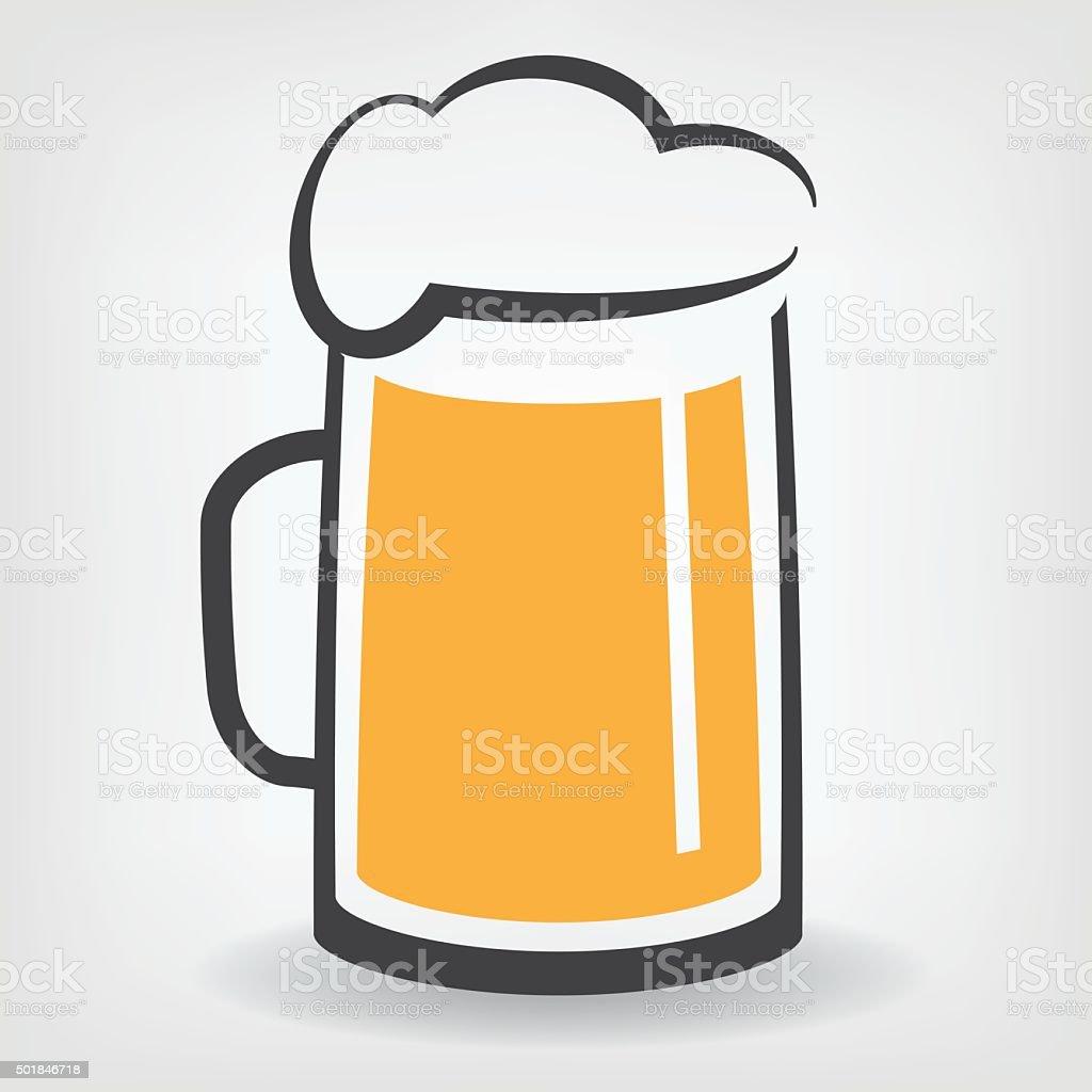 Verre à bière stock vecteur libres de droits libre de droits
