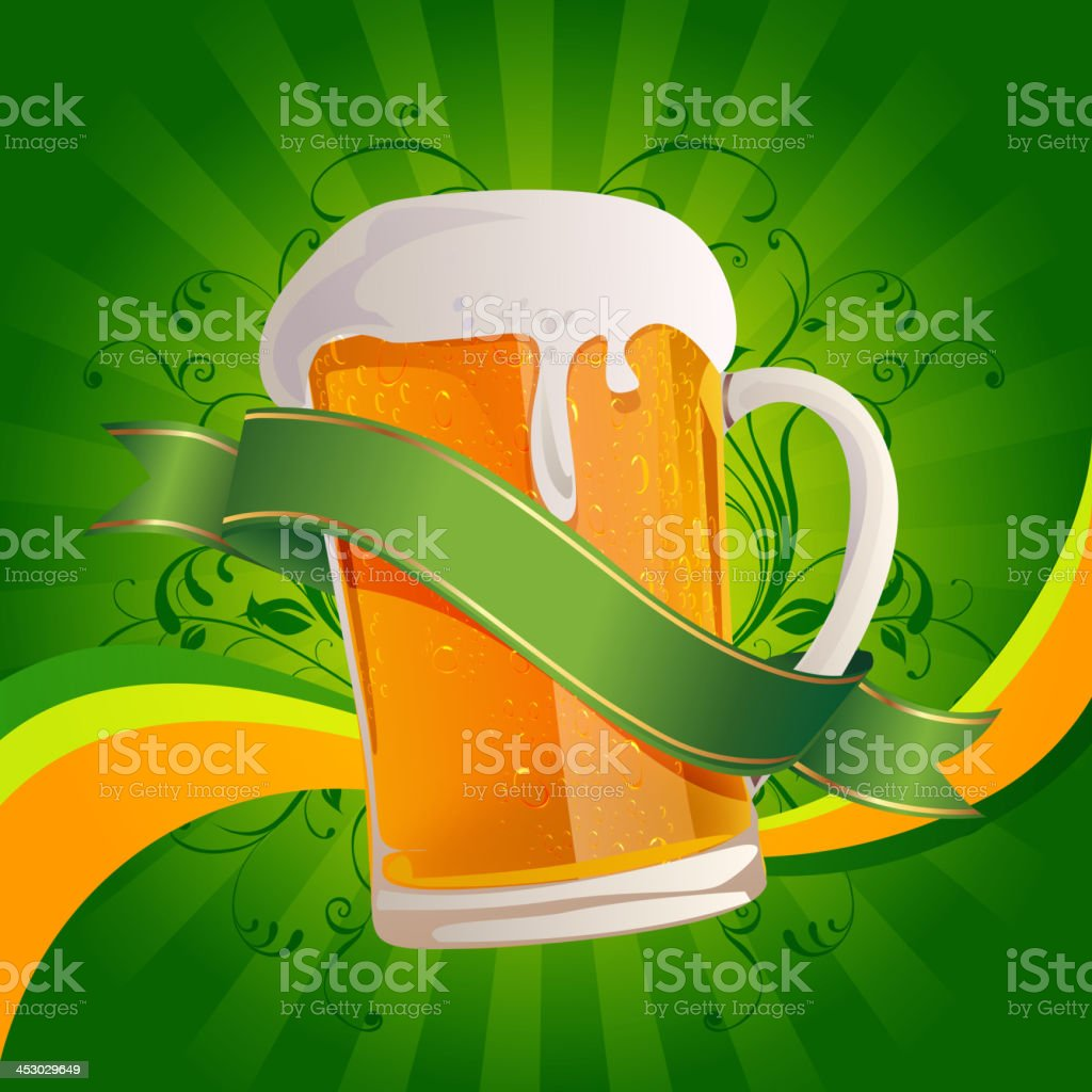 Beer Glass with Banner royalty-free stock vector art