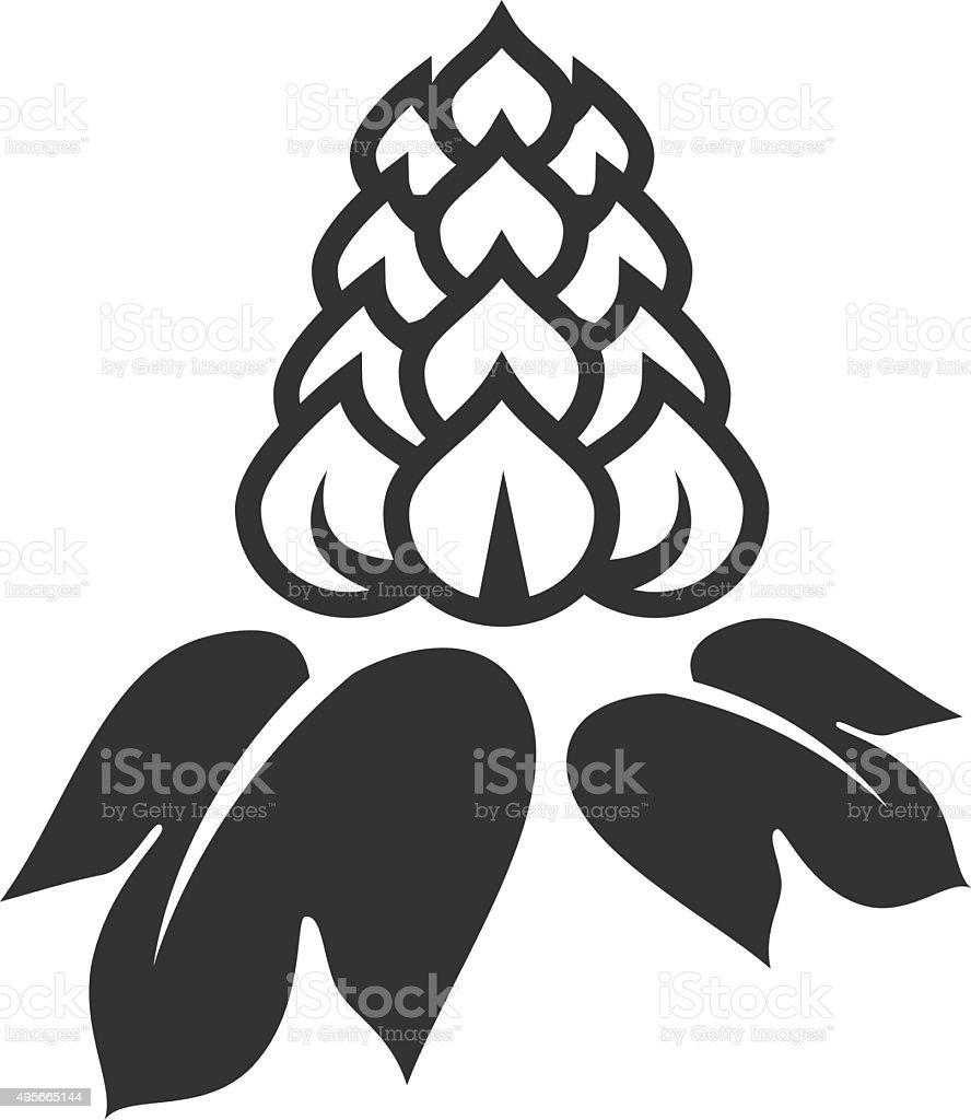 Beer hop icon vector art illustration