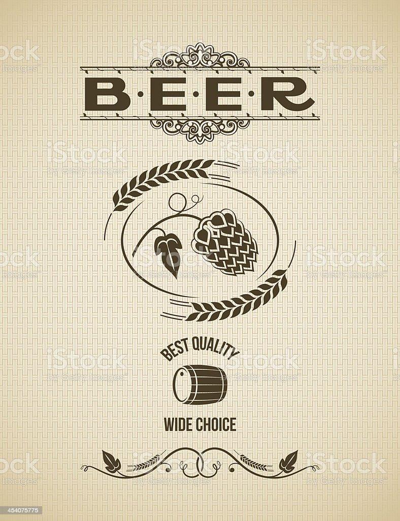 beer hops design vintage background royalty-free stock vector art