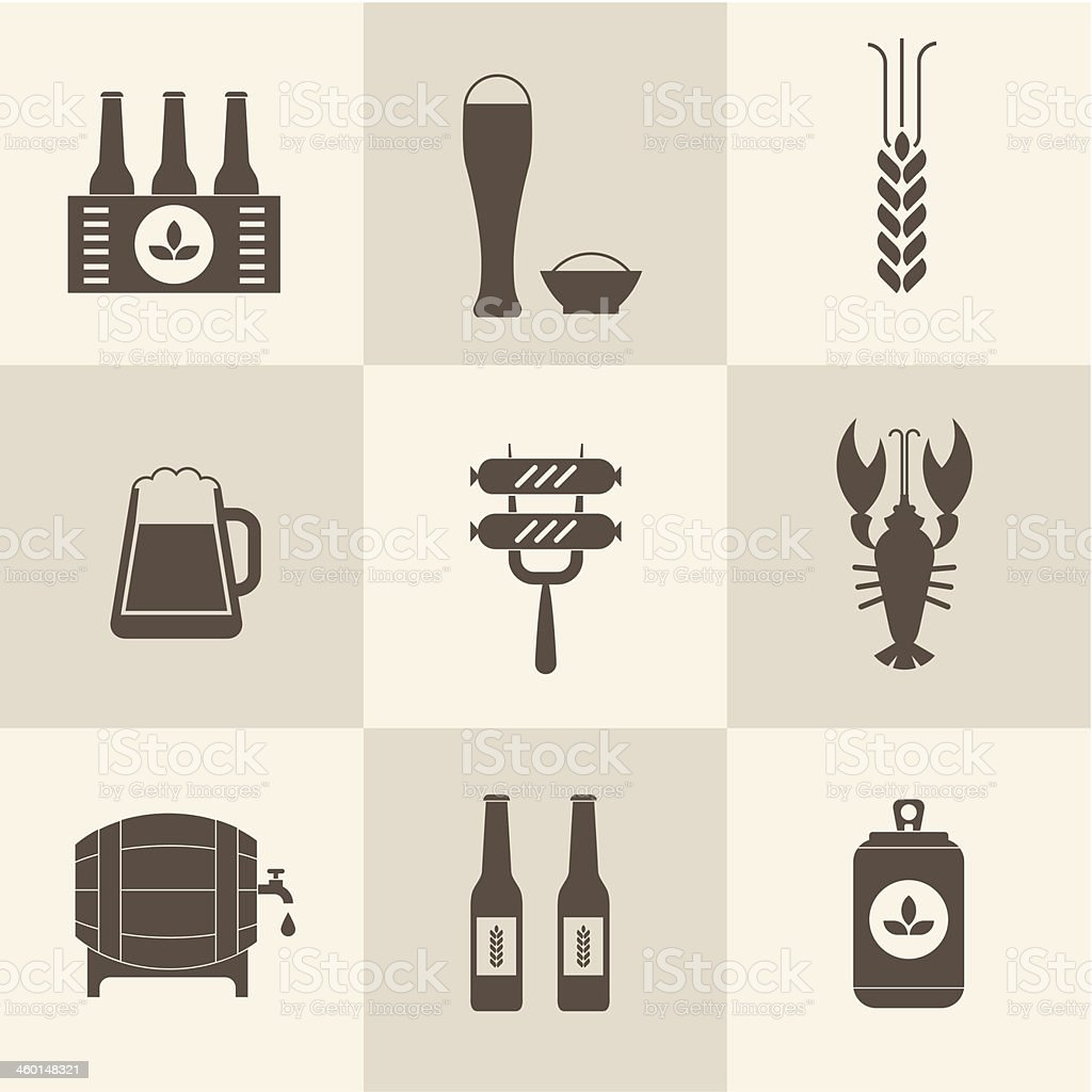 Beer icons set royalty-free stock vector art