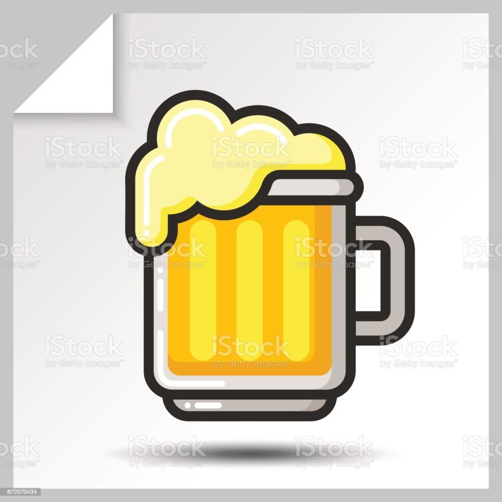 Beer icons_3 vector art illustration