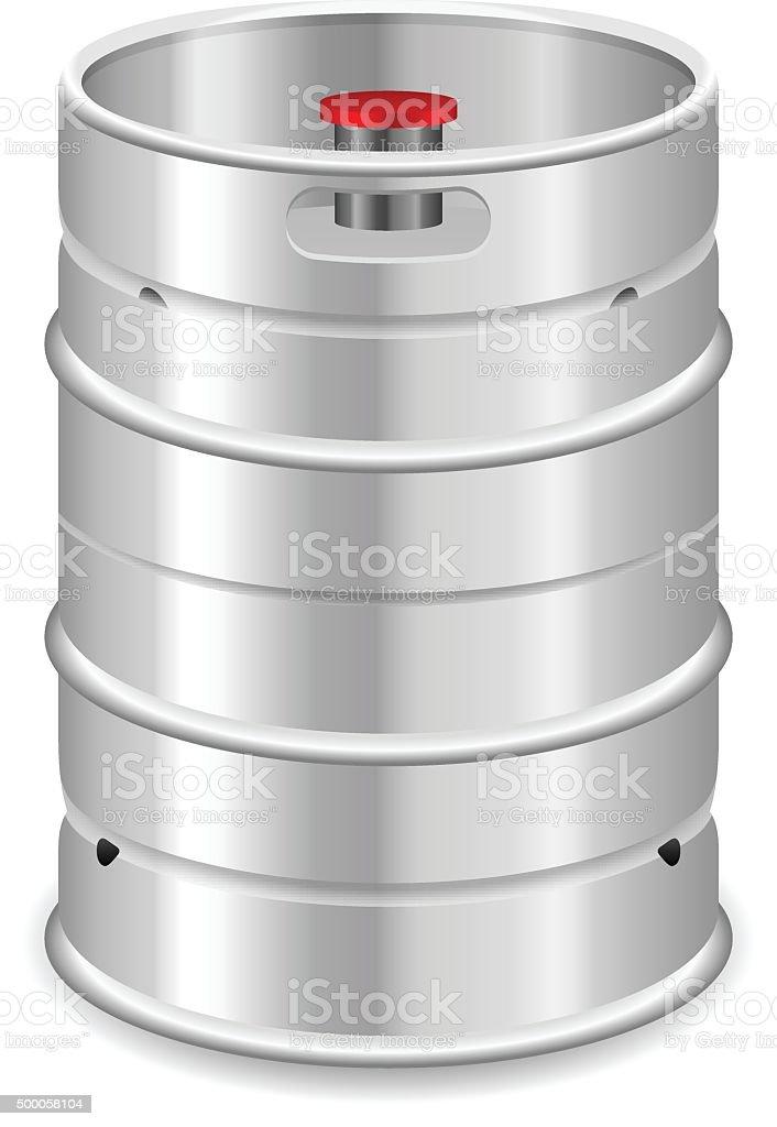 Beer keg vector art illustration