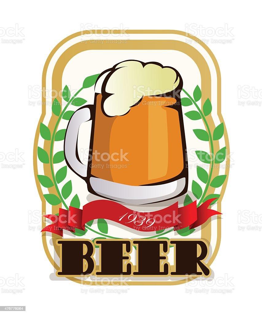 Étiquette de bière stock vecteur libres de droits libre de droits