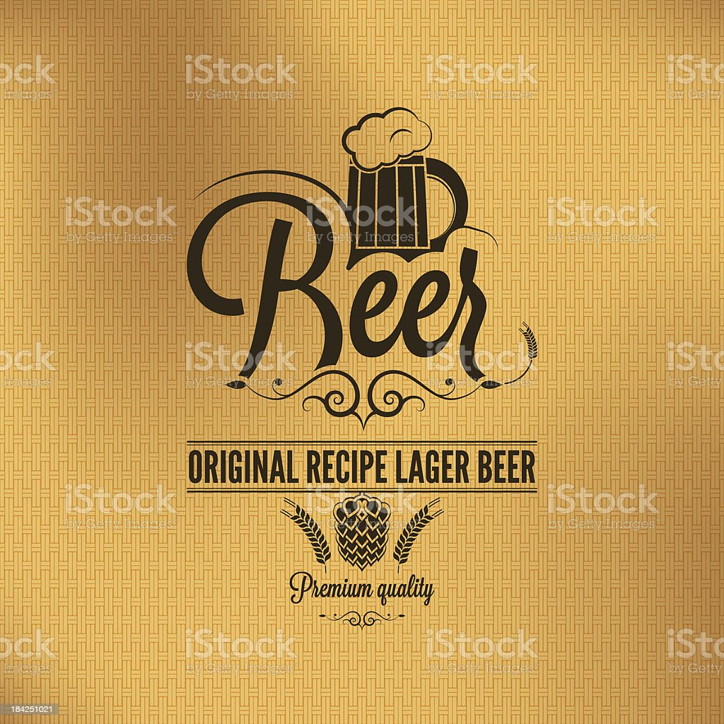 beer lager vintage background vector art illustration
