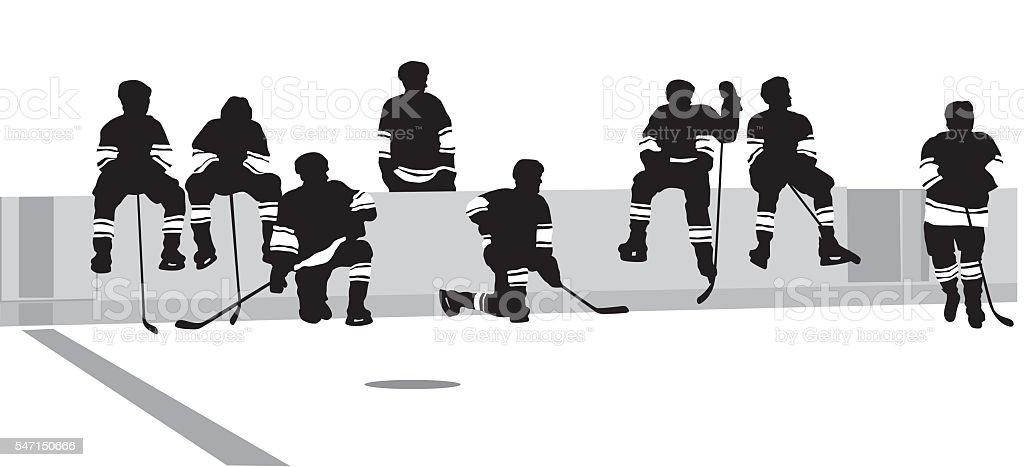 Beer League Hockey vector art illustration