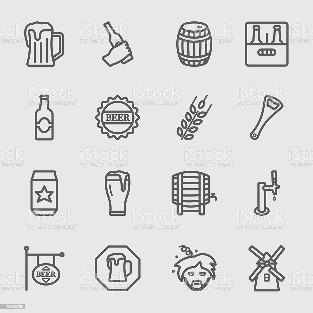 Beer line icon vector art illustration