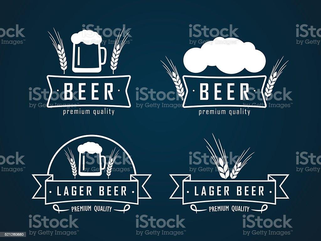 beer logos vector art illustration