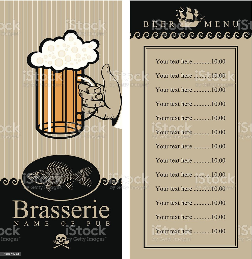 beer menu royalty-free stock vector art