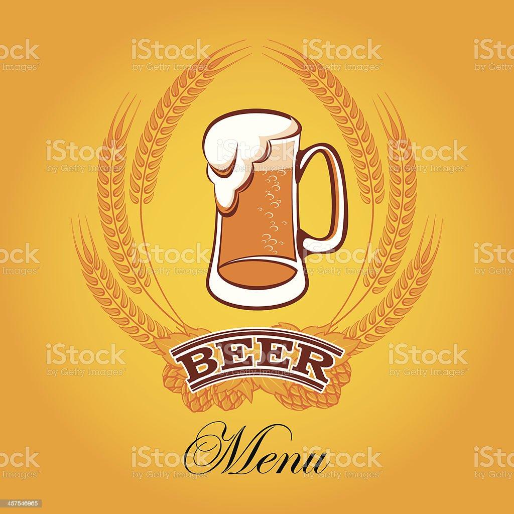 beer menu royalty-free stock vector art
