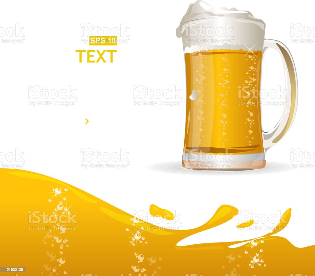 Beer mug background for text royalty-free stock vector art