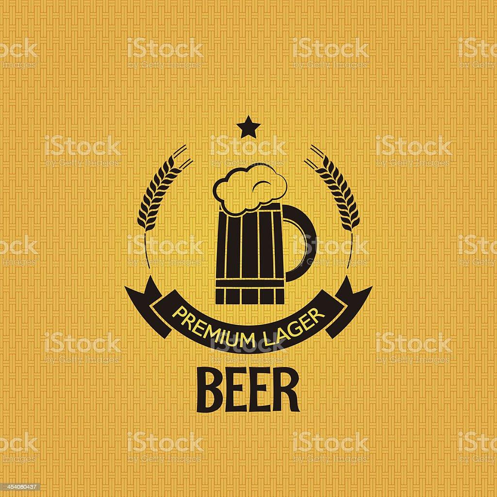 beer mug barley design background royalty-free stock vector art
