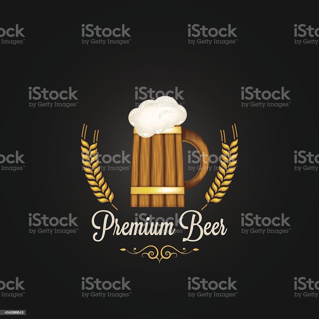 beer mug barley vintage design background royalty-free stock vector art