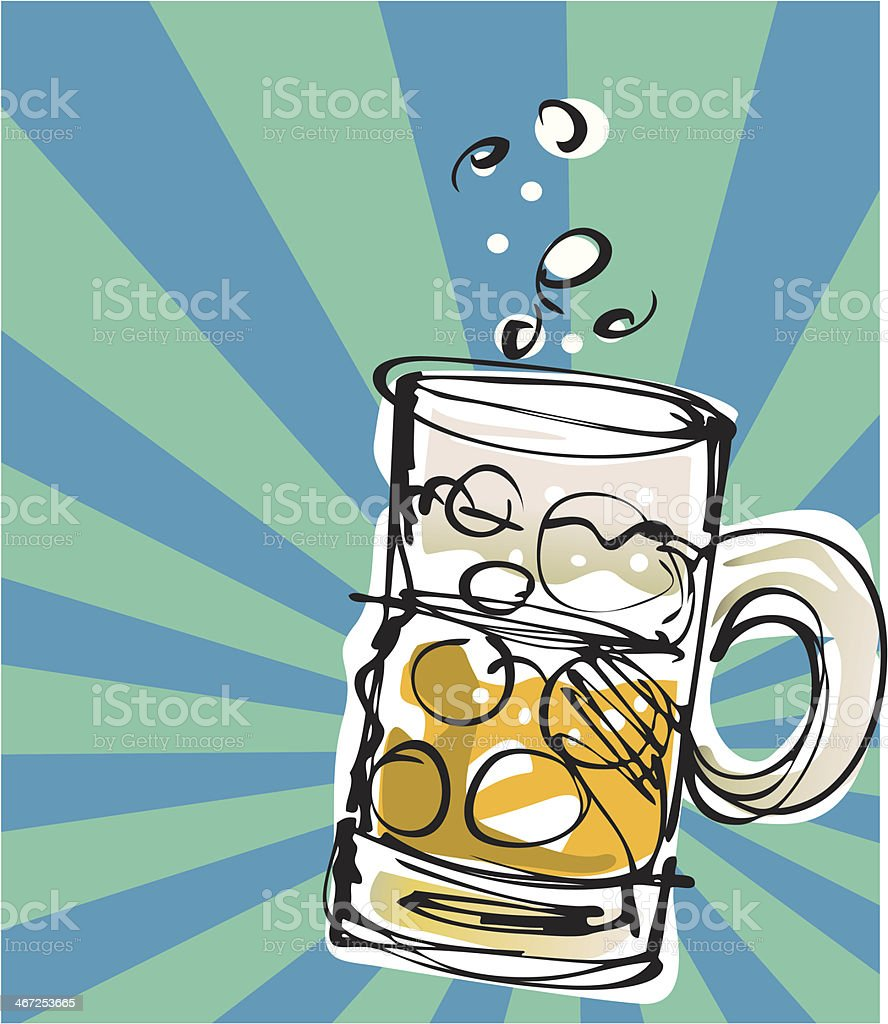 Beer Mug vector art illustration