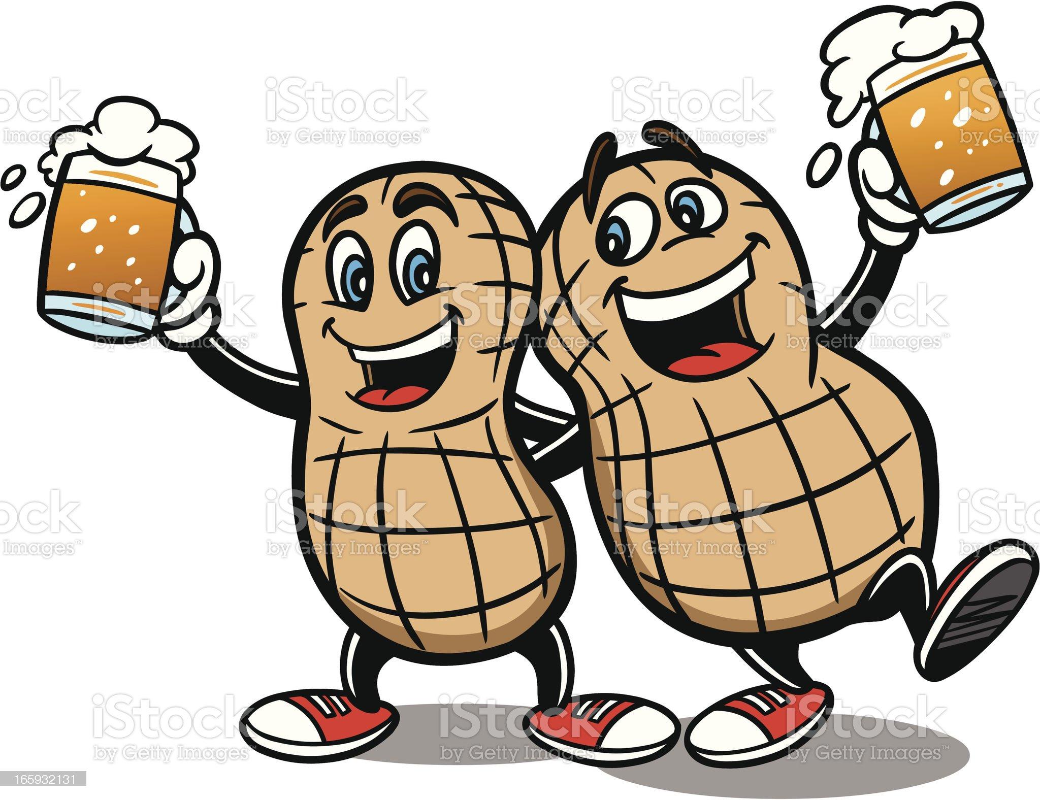 Beer Nuts royalty-free stock vector art