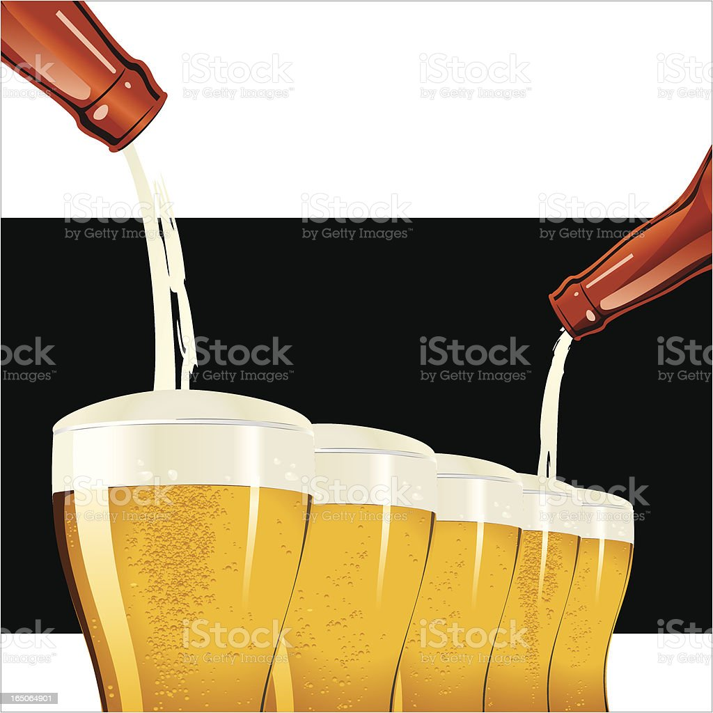Beer Party royalty-free stock vector art