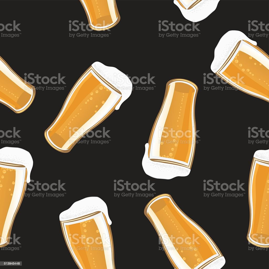 Beer Pint Background vector art illustration